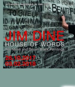 JIM DINE. HOUSE OF WORDS